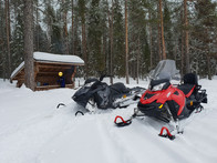Kelkkailua Rovaniemellä