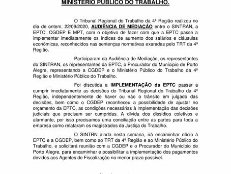 AUDIÊNCIA DE MEDIAÇÃO TRE - 22/09/2020