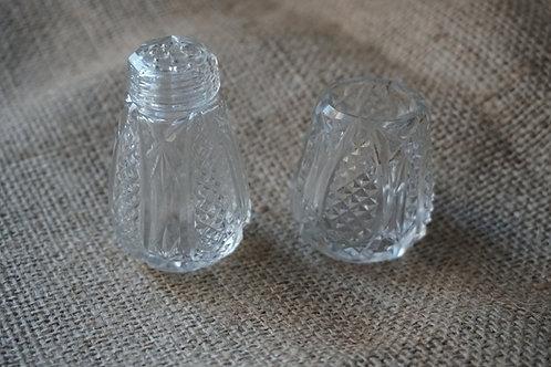 antique crystal salt shaker