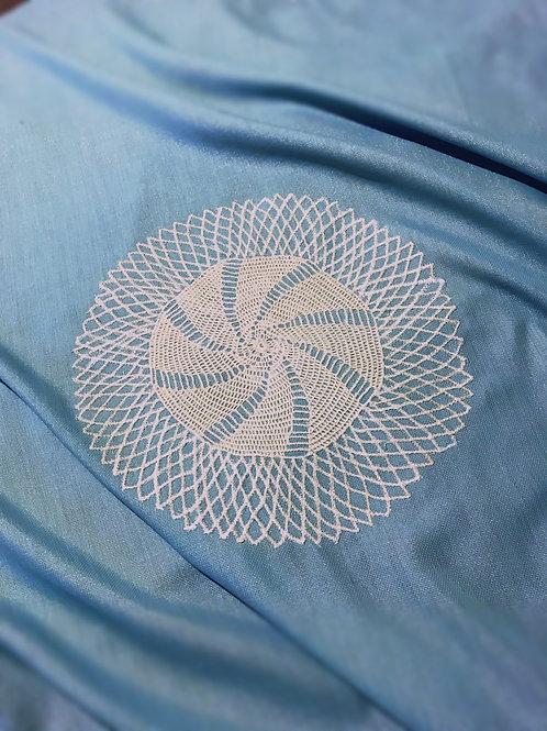 aqua tablecloth