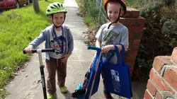 Children volunteering with Hope