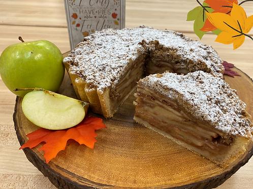 Deep Dish Apple Tart with Brown Butter Cinnamon Streusel