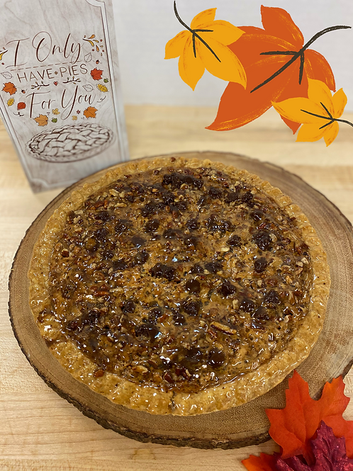Southern Pecan Pie with Chocolate Morsels