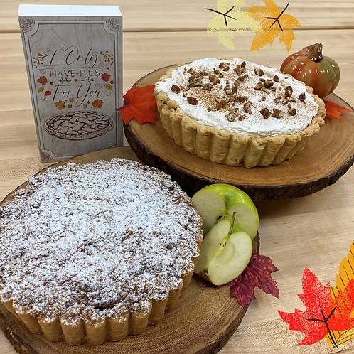 Two Pies: Pumpkin and Apple Tart