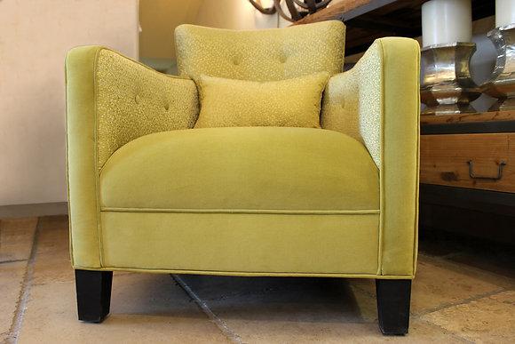 Lemon Velvet Chair