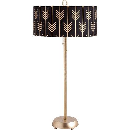 Modern Ebony & Brass Lamp