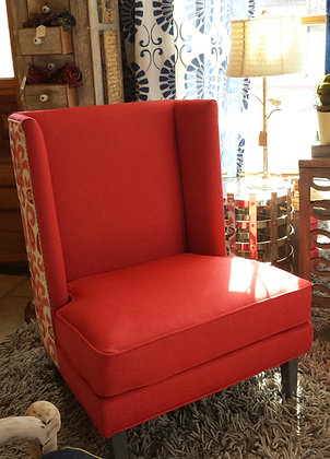 Red Felted Wool Chair