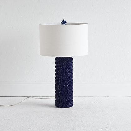Navy & White Shell Lamp