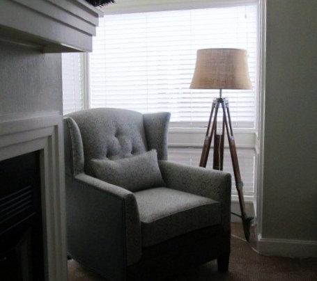 Pewter Madallion Wool Chair
