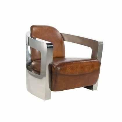 Chrome & Leather Chair
