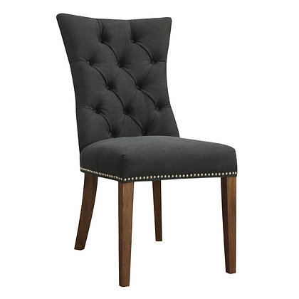 Graphite Linen Dining Chair