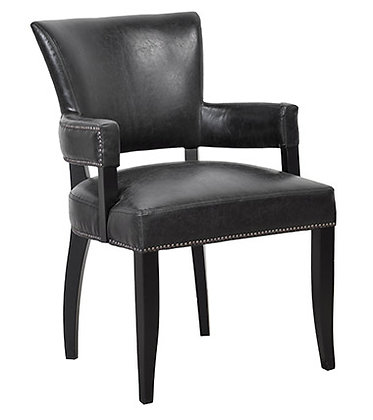 Transitional Black Arm chair