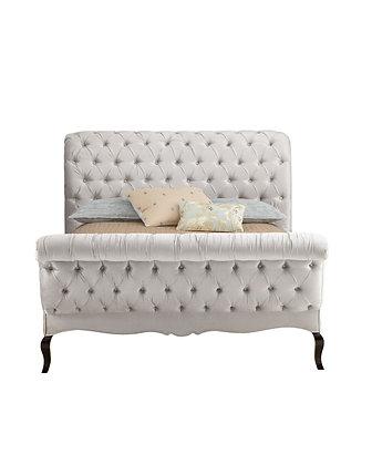 Louie Rolled & Tufted Velvet Bed