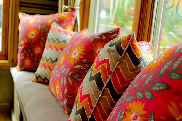 Pillow Set in Orange & Graphite
