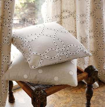 Embroidery on  Linen  Pillow Covers