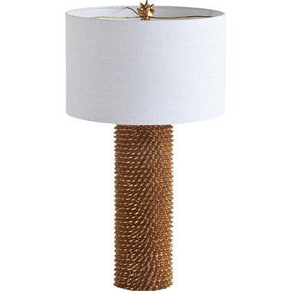 White & Gold Shell Lamp