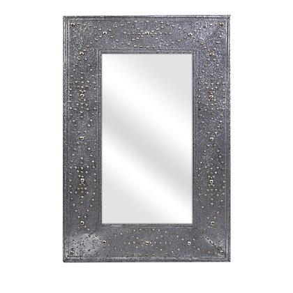 Aged Steel Mirror