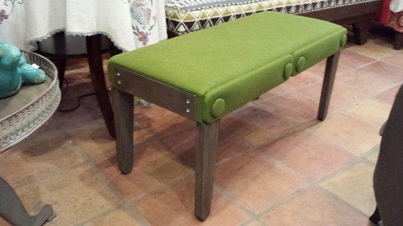 Lime Felted Bench