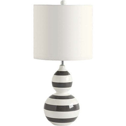 Graphite & White Striped Lamp