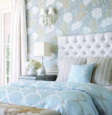 Velvet Tufted Bed & Rails