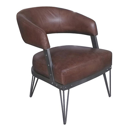 Hair Pinned Leather Chair