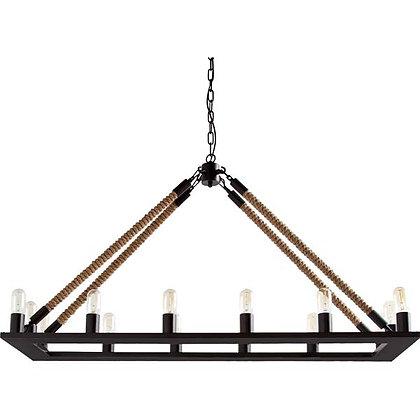Rope Chandelier, rectangular