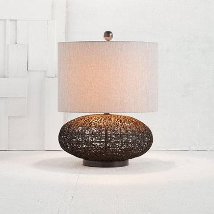 Rattan & linen Lamp
