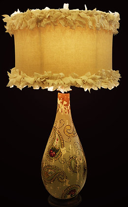 Rag Shade Vintage lamp