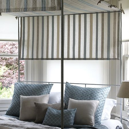 Blue Stripe Bedroom Ensemble