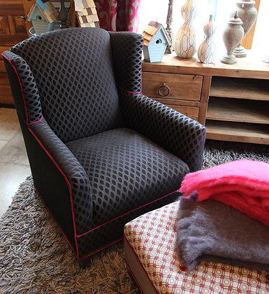 Black & Raspberry Chair