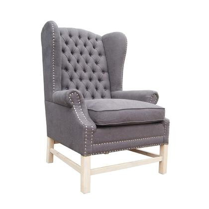Charcoal Linen Occasional Chair