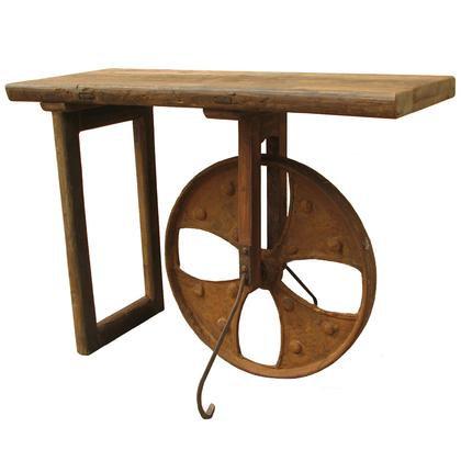 Rusty Wheel Console