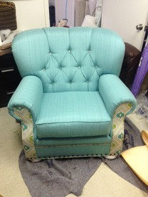 Tufted Chair Turquoise Chair