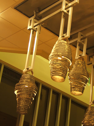 Twisted Steel Pendants