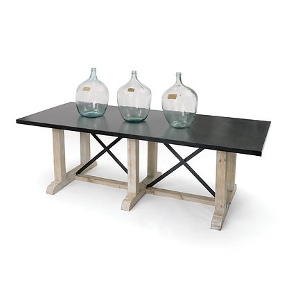 Miner's Steel Top Dining Table