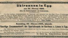 Ski Rennen in Egg am 24. Jänner 1909