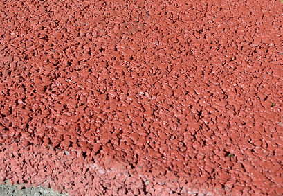 Brick Red Permeable Concrete