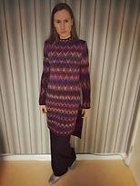 комбинированный, в полоску, шерсть, альпака, вязаная туника, туника, туника вязаная, туника спицами, туника женская, жаккард, Жаккардовый узор, жаккардовое вязание, удлиненный свитер, вязание на заказ