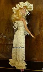 вязание, вязаное платье для куклы