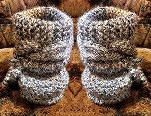 вязание, вязание для малыша, пинетки