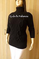 Вязание на заказ, свитер спицами с косами