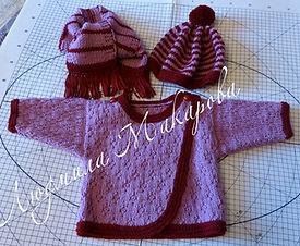 вязаный комплект для мальчика, вязание на заказ, вязаная кофточка, вязаная шапка, вязаный шарф