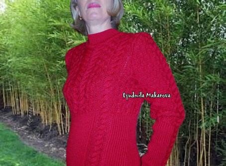 """Платье ручной работы """"Красное вино"""""""