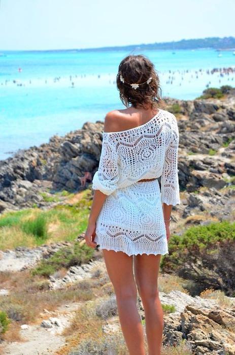 Красивая пляжная туника