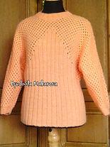вязание на заказ, свитер спицами