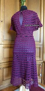 вязание на заказ, платье крючком