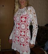 Вязание на заказ, туника, платье крючком