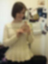вязание на заказ, вязаный джемпер на заказ, джемпер вязвный, пуловер вязвный, вязаный женский джемпер, пуловер с баской, джемпер с баской