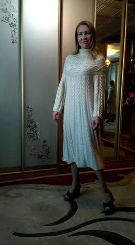 """Платье в стиле """"Шамони"""" из кашемира с шелком!"""