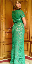 взаное платье на заказ, шетландские узоры, платье впицами, ажурное платье